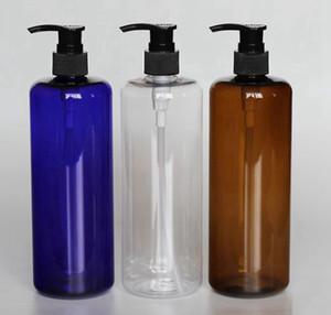 500ml Empty PET Bottle Plastic Liquid Shampoo cosmetics packaging bottles PET plastic bottle for Pump Shampoo Bottle KKA7922