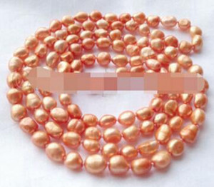 "KOSTENLOSER VERSAND ++ Pretty 48 ""orange barocke Süßwasserperlen necklacePretty 48"" orange barocke Süßwasserperlenkette"