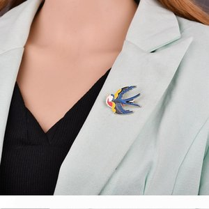 Linda andorinha do vôo Broche Swallow Birds Mulheres jóias broche Partido Banquete Acessórios Esmalte Animais pinos B37 B38
