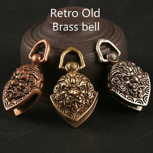 100% Copper Material Exorcism Bell Key Chain Pendant Home Traditional Charm Decorative Crafts Chinese Style Retro Old Hand-crafted Carved