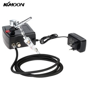 KKmoon 100-240V Professional Gravity Feed Dual Action Airbrush for Art Painting Manicure Craft Cake Spray Model