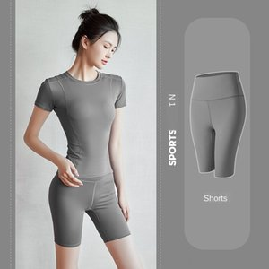 EcixT elastische hohe Taillen-Frauen Yogahosen Sport Fitnessbekleidung Leggings LU-67 Fitness Lady Overall Voll Tights Workout Lady Sporthose