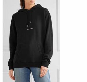 Diseñador sudadera con capucha de calle moda clásica para mujer para hombre con capucha carta raya de impresión Plus sudadera de terciopelo nuevo suelto grande