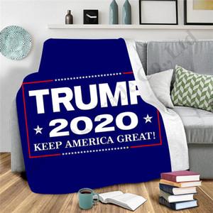 Trump 2020 3D-Printing Blankets Winter-Doppelschichten verdicken Decke Letters Teppich Wurf auf Bettsofa Schal Erwachsene Kinder Mantel-Kap-A112702