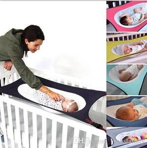 Новорожденные кроватки для новорожденных Спящий Гамак для младенцев Hangmat Путешествия Портативный Спящий Cradle кровать дышащий съемная люлька шпаргалки Hammock DYP7057
