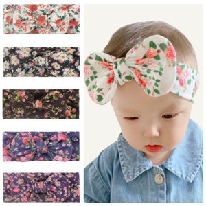 36 design INS European and American baby Flower Bow headband Turban Twist Head Wrap baby girl hair bows accessories Bandana