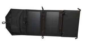 7W Foldable 태양 전지 충전기 + DC5V USB Output + mobilephones / MP3 / 4 / PSP를위한 휴대용 태양 전지 충전기