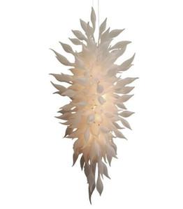 Jetzt Trending Weiß geblasenem Glas Kronleuchter Beleuchtung Hotel Hochzeit Dekorative Pendelleuchten Modernes Restaurant LED-Licht Kristallleuchter