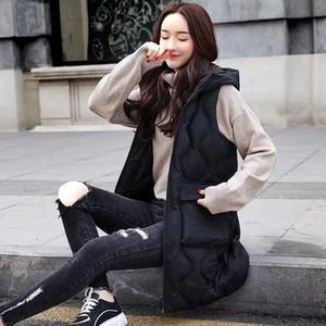 TiLeewon Veste d'hiver Femmes Gilet Mode pour garder au chaud Gilet 2019 Spring Femme Lovers Sexy Slim longues Vestes Plus Size 2XL