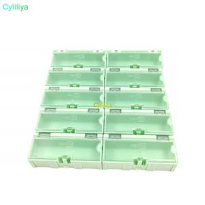 الأصلي 2 # الأخضر مكون تخزين مربع مربع ic مكونات صناديق smt smd ون تاي صناديق مزيج البلاستيك القضية