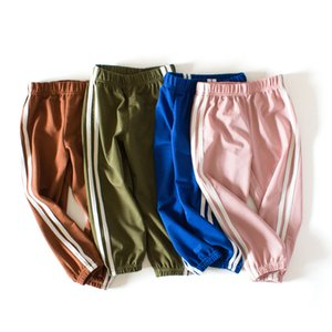 2020 Summer Boys Girls thin trousers Striped Kids mosquito pants Children air conditioning pants Elastic Waist Clothes 2-8 Years