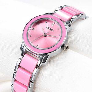 2020 Nouveau Contracté Simple Bracelet Table Atmosphère Élégant Dames De Mode Montre Fabricants Vente Quartz Montre Femmes Rose