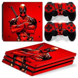 Fanstore الجلد ملصق الفينيل التفاف الغلاف Deadpool لبلاي ستيشن PS4 برو وحدة التحكم عن بعد 2