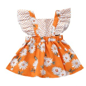 HOT Baby Girls Dresses Baby Kids Girl Fashion Flower Print Sleeveless Kids Dress Casual Dress Party