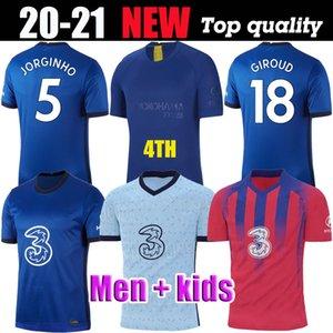 2021 camisas de futebol Tailândia CFC Kante PULISIC GIROUD ODOI Willan 20 21 JORGINHO LAMPARD bochecha quarta Copa shirts 4o futebol Homens kits crianças