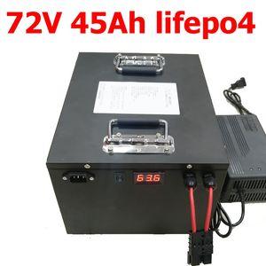 GTK impermeable 72v 45ah lifepo4 batería litio BMS para 4000w inversor bicicleta bicicleta scooter Carretilla elevadora fuente de alimentación EV + 5A cargador