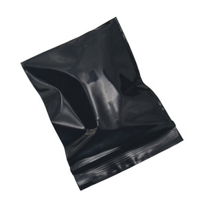 Retail Zipper Grocery Gift Packing Storage Pouch 4*5cm Mini Black Zip Lock Resealable Ziplock Bag 500pcs lot Self Seal Plastic Package Bag