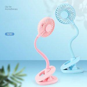 Clip Mini Fan Fan de cool rechargeable à la main portable avec la lumière LED de bureau colorés Ventilateur Night Light Party Favor de la OOA8105