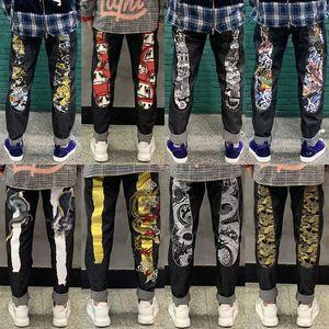 New 20ss Top Brand Jeans Mens Jeans Men Denim Black Jeans For Men Embroidery Pants Fashion Holes Trousers Size 27-40