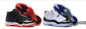 11 di alta qualità Space Jam Bred Gamma Blu scarpe da basket Mens Women 11s Concords 72-10 Leggenda Blu Cool Grey Sneakers con la scatola