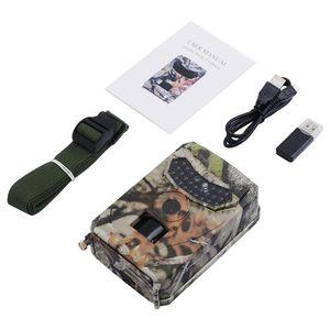 PR100 1080P HD 적외선 나이트 비전 사냥 카메라 동물 사진 트랩 12MP 렌즈 각도 야생 동물 트레일 열 카메라