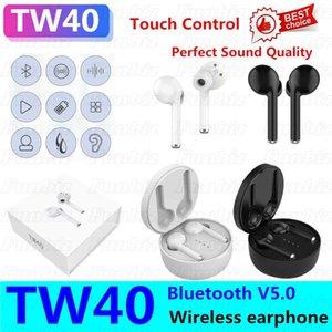TW40 sans fil Bluetooth écouteurs stéréo Bluetooth Touch Control V5.0 Portable Sport Casque Oreillettes Casque jumelage automatique Oreillette 20PCS