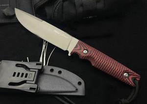 Kydex ile Promosyon Yaban Domuzu Survival Düz Bıçak D2 Titanyum Finish Damlama Noktası Blade G10 Kol Açık Sabit Blade Bıçaklar