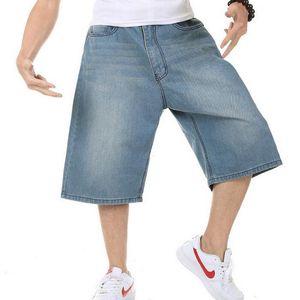 2019 VXO Plus Size 30-46 Mens Denim Cargo Shorts Loose Streetwear Baggy Jeans Shorts Skateboard Short Jeans For Male