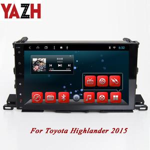 YAZH 1 Din Auto DVD Radio mit Monitor Kapazitiver HD Touchscreen für Toyota Highlander 2015 Unterstützung GPS Navi Android 8.1 Octa Core