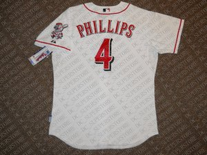 100% embroidery Custom Brandon Phillips White jerseys Stitched Customize any name number NCAA JERSEY