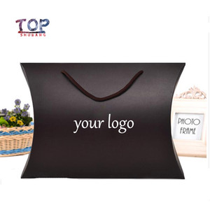 Customizable Logo Black Gold Box Paper Box Usable Hair Bundle Packing Boxes Gift Packaging Product