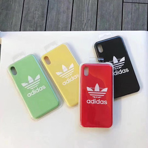 Cover in silicone di design ufficiale per iPhone 7 Plus 6 6S 7 8 Plus Cover in silicone di marca per iPhone 10 X XR XS Max Business Coque Fundas A02