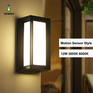 New 10W Led ao ar livre Superfície Lâmpada de parede LED Wall Aluminium Montada Cube Outdoor Lamp Up e luzes de parede para baixo