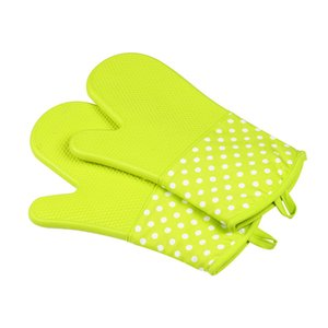 Microwave Oven Glove Heat Insulation Silicone Oven Gloves Slip-resistant Bakeware Kitchen Cooking Baking Tools Washing Gloves GGA3409-1