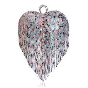 Дизайнер-Сердце дизайн стразы женщина вечерних сумки палец кольцо бриллиантов мелких кошельком день клатчи вечерних сумок для свадьбы партии ужина