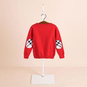 2019 ropa de otoño e invierno de los niños los niños de manga larga jersey de angora-suéter de cuello redondo suéteres Inglaterra
