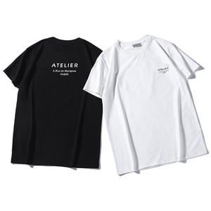 mens Boyut S-2XL başında tshirt baskılı 2020 lüks tasarımcı tişörtleri Pamuk Mürettebat Boyun hip hop Kısa Kollu mektup moda markası erkekler womens