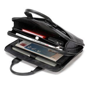 Zipper Men Briefcase Bags Leather Messenger Bag Men Genuine Leather Laptop Bag For 13 Maletines Hombre Cuero