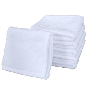 Sublimation Serviette Polyester Coton 30 * 30cm Serviette blanc carré blanc serviette impression bricolage Home Hôtel Serviettes moelleuses Essuie-mains A03