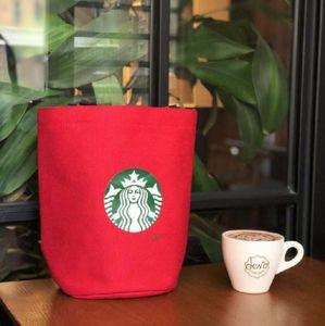 2019 Tambor de Lona Sacola com Saco De Arroz Grande Isolamento Balde Estudante Lunch Box Bag Rodada Bento