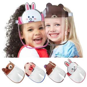DHL Sun de los cabritos niños del sombrero claro anti-niebla a prueba de polvo visera protectora de la cara llena sombrero que cubre la máscara de pantalla de protección de ojos anti-vaho Máscara
