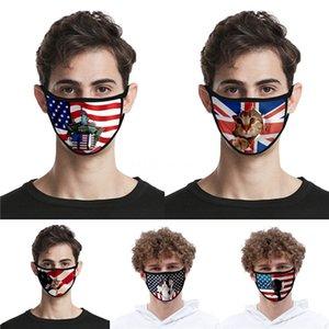 На складе Donald Trump Дизайнер Luxury многоразовый моющийся хлопчатобумажной ткани моды рот Face Mask США Женщина Мужчины UniSex 17 Стили голодает корабль # QA984