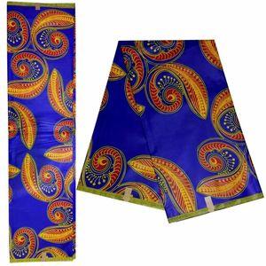 Afrika kumaş moda Garantili Java Balmumu kumaş 100% pamuk giyim için 6 metre Ankara blok baskılar Balmumu kumaşlar! DF-4559