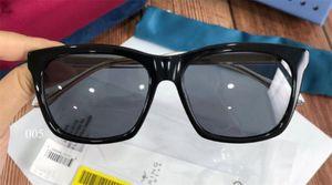 New fashion pop glasses designer retro sunglasses 0558 square frame simple atmosphere style top quality uv 400 outdoor eyewear
