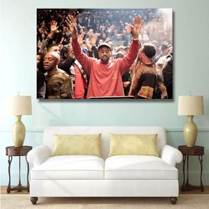 J0298 Kanye West Amerikan Rapçi Hip Hop Şarkıcı Yıldız Sıcak Üst Sanat Poster İpek Işık Kanvas Duvar Resmi Ev Dekorasyonu Boyama yazdır