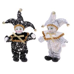 Set di 2pcs porcellana bambole da collezione 6inch Altezza Arlecchino Bambola in costume, regali creativi Valentin per Lui o fidanzata