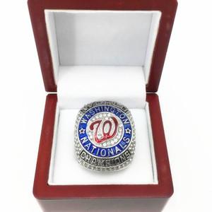 Vente en gros 2019 Baseball Washington Championnat National Équipe Anneaux Bijoux Souvenir Fan-cadeau