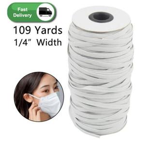 109 Yards Lunghezza del cavo intrecciato la fascia elastica fai da te a maglia banda cucito ampiamente usato per le maschere 3 mm 4 mm 5 mm