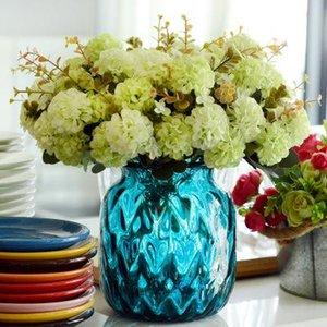 Chrysanthemum Boule de fleurs artificielles Accueil Affichage Faux Bouquet de fleurs Plantes de simulation pour Home Décor 10 chefs / bouquet