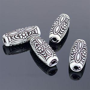 Fluted ondulado Beads Antique Design acrílico espaçador solto Beads Oval forma de tubo 25x11x8mm Para DIY jóias fazendo entregas
